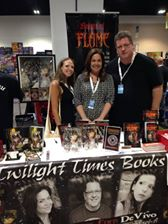 Twilight Times Books colleagues Maria DiVivo, Scott Eder and me in the middle.