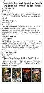 Comic Con Schedule