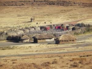 Massai Boma on the way to the Serengeti.